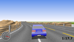ScreenShot Image : The Hill-Driving - Third person view 3D sports car hillclimb racing game for Silverlight®